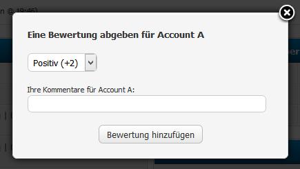 Die auswählbaren Punktezahlen können Sie im Admin-CP konfigurieren